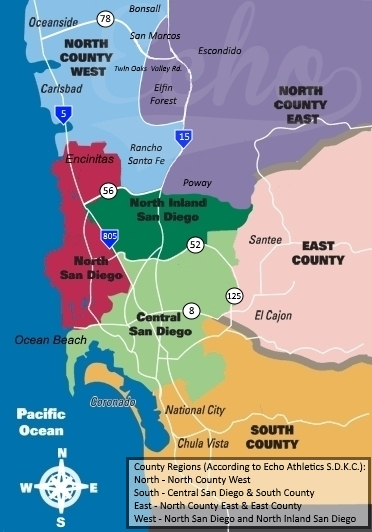 New areas Counties